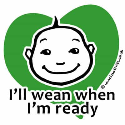 I wean when I'm ready extended breastfeeding logo