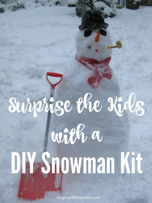 Make a Snowman with a DIY Snowman Kit
