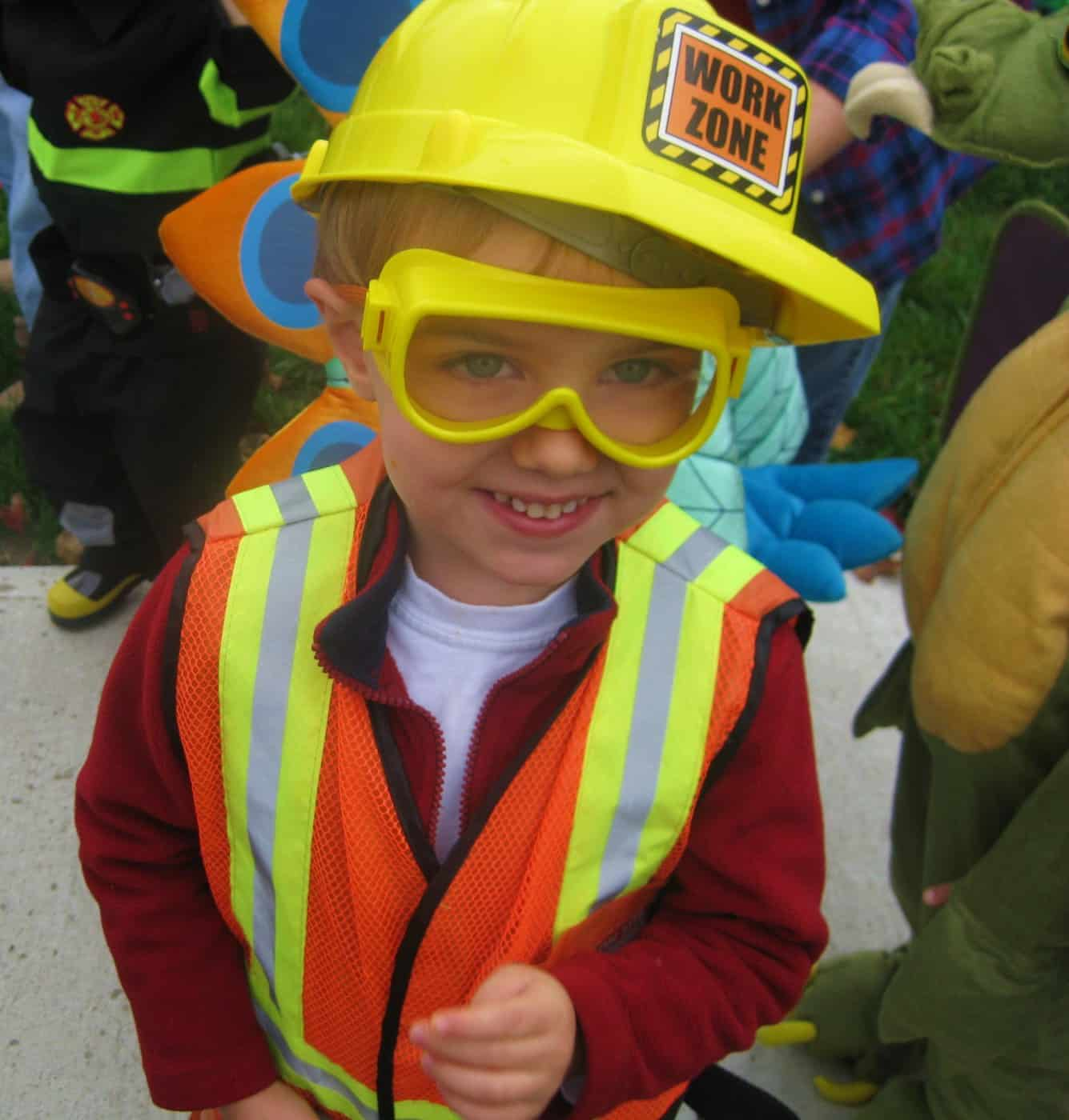 Happy Halloween From a Little Construction Worker!