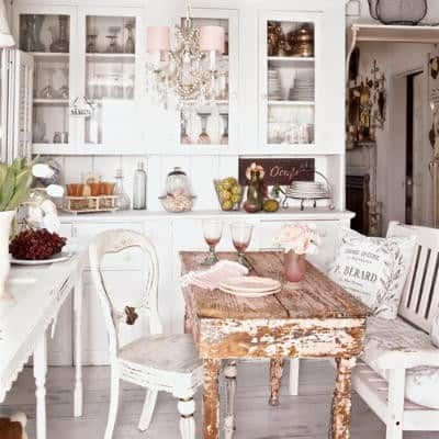 shabby chic kitchen idea, more on DagmarBleasdale.com