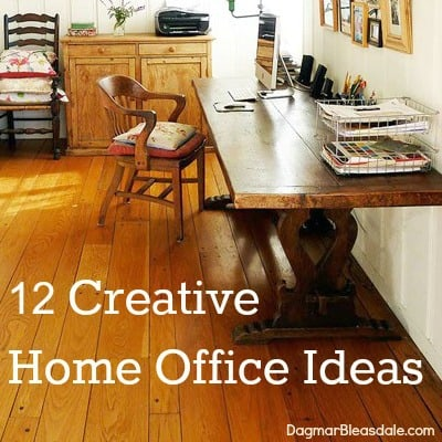12 creative home office ideas by DagmarBleasdale.com