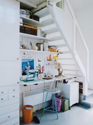 office under the steps