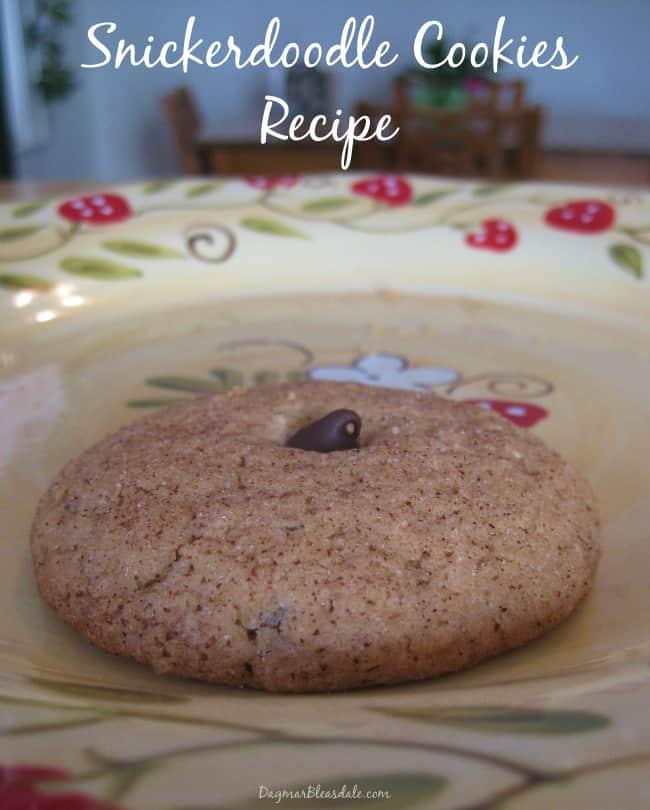snickerdoodle cookies recipe, DagmarBleasdale.com