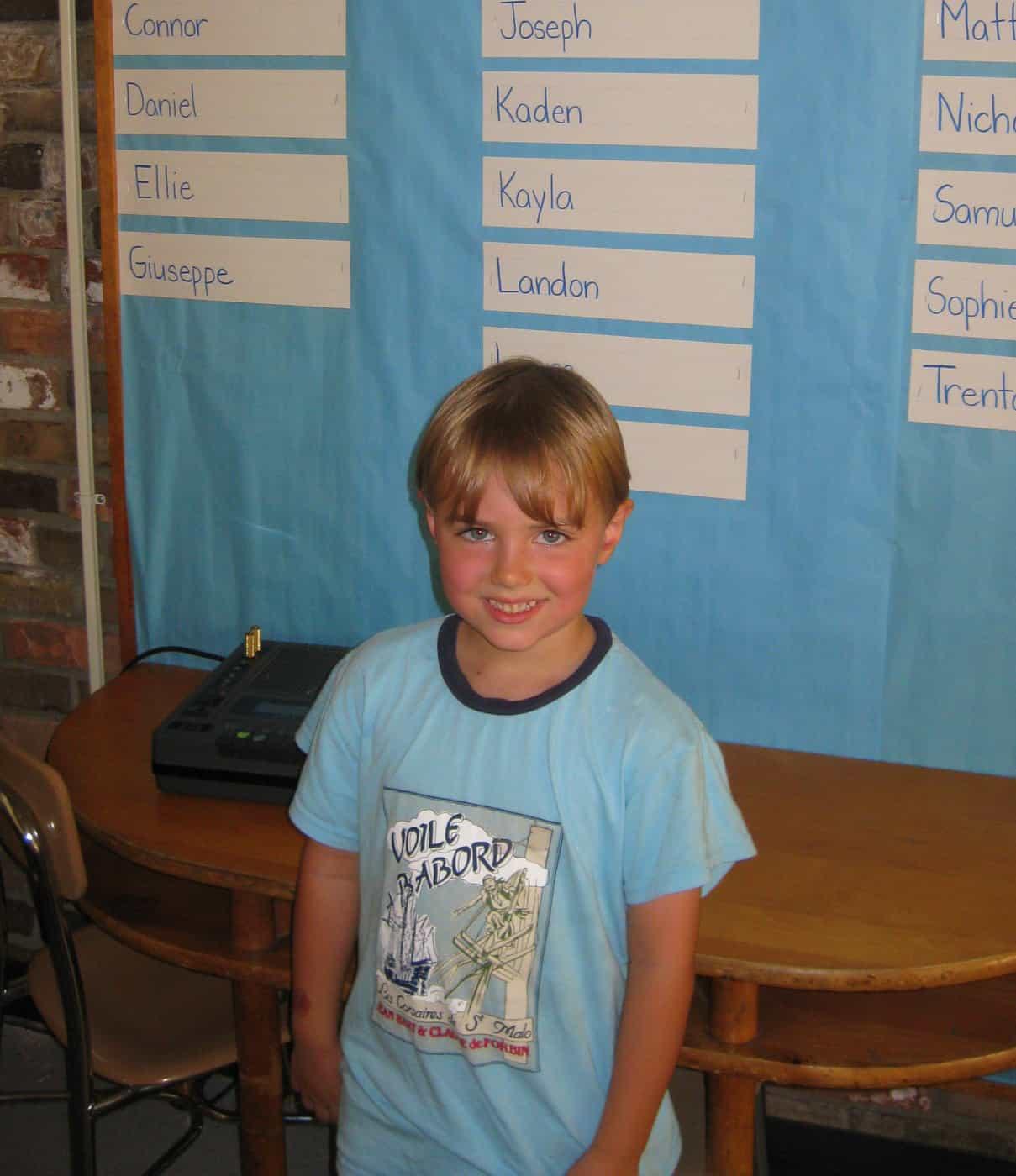 Wordless Wednesday — Kindergarten!