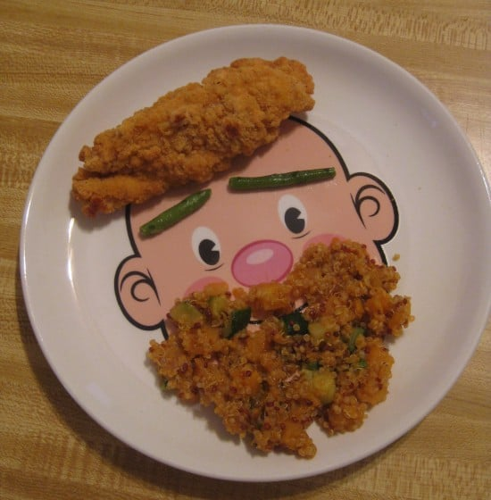 Food Face plate, perfect for picky eaters, DagmarBleasdale.com, Fred & Friends MR FOOD FACE Kids' Ceramic Dinner Plate,