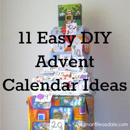 11 easy diy advent calendar ideas for Ideas for advent calendars to make