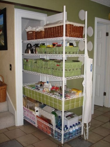 Roll Out Closet Shelving Idea