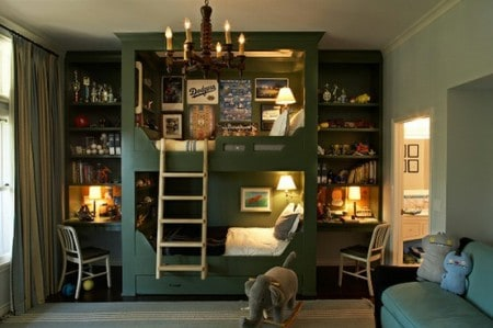 indesigna: clever kids room storage idea small rooms