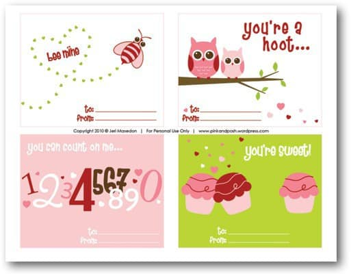free Valentines printables DagmarBleasdale.com: 10 Easy Valentine's Day Crafts For Kids http://www.dagmarbleasdale.com/2012/01/10-cute-and-easy-valentines-day-cards-and-crafts-for-kids/