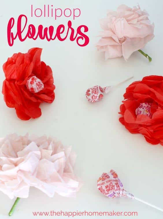 lollipop flower valentine