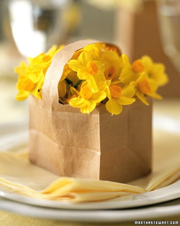 paper bag basket for Easter
