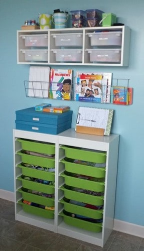 clever storage for kids room or craft room