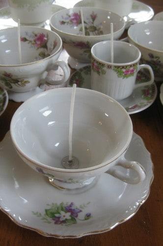 Dagmar's momsense: making teacup candles, DIY home decor