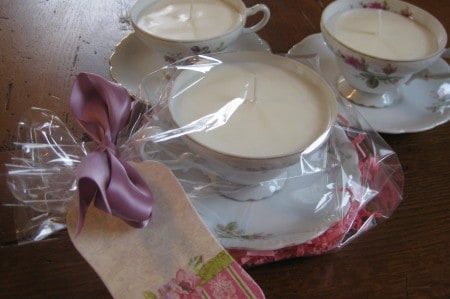 Dagmar's momsense: making teacup candles, DIY crafts