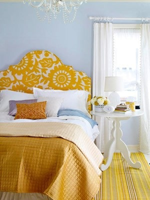 bedroom blue and yellow
