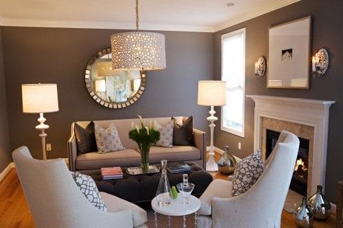 Room Gray Dark Walls.living 500 x 333