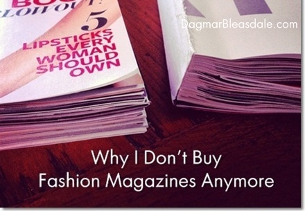 Dagmar Bleasdale: Why I Don't Buy Fashion Magazines Anymore