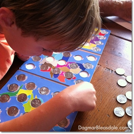 boy and his quarter collection