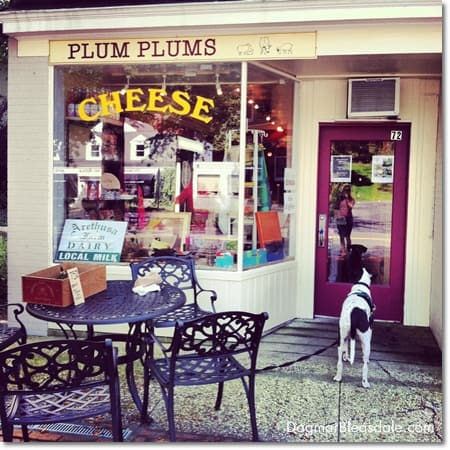 Plum Plums cheese shop in Pound Ridge, CT