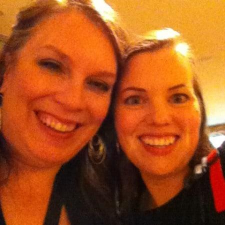 Dagmar Bleasdale and Glenda Embree at BlogHer'12