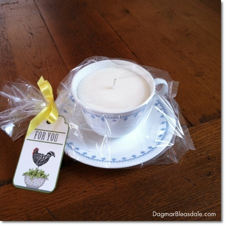 Dagmar's Home Decor handmade soy candle in coffee cup