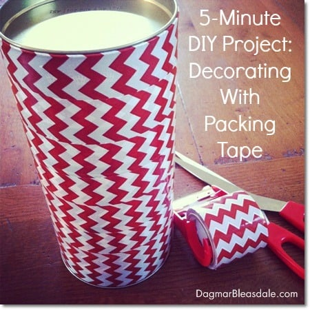 Easy DIY project: decorating a box with colorful packing tape
