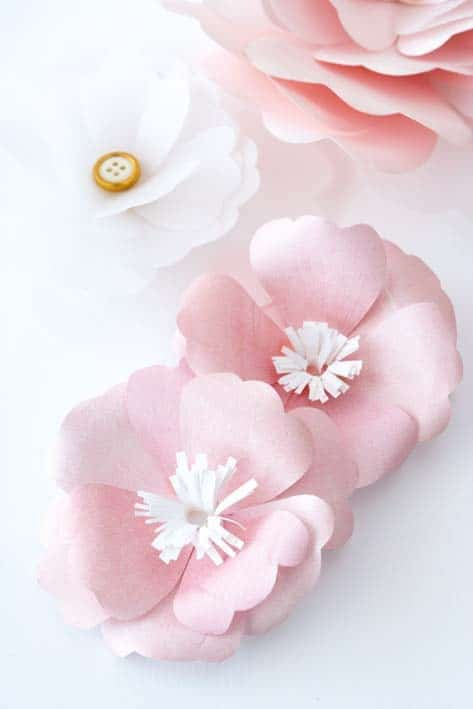 Pretty DIY Paper Flowers and Easy Tutorials