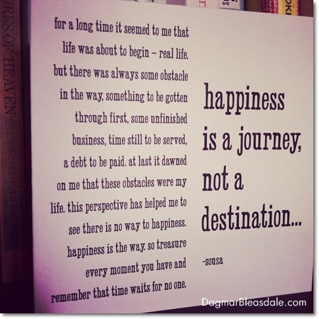 Happiness is a journey, not a destination card