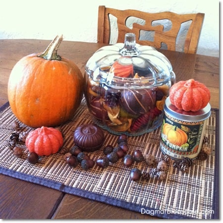 DagmarBleasdale.com: easy DIY fall decorating centerpiece