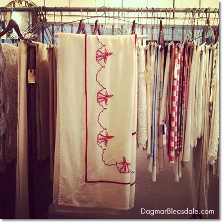 antique linens at Barn at Sundial Farm, Ossining, NY