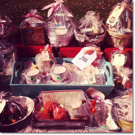 Dagmar's Home Decor: handmade vintage cups candles and unique gift baskets