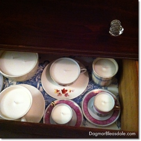 Dagmar's Home Decor: handmade soy candles ready for shipment