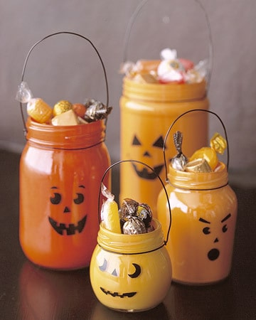 DIY Halloween decor with used jars