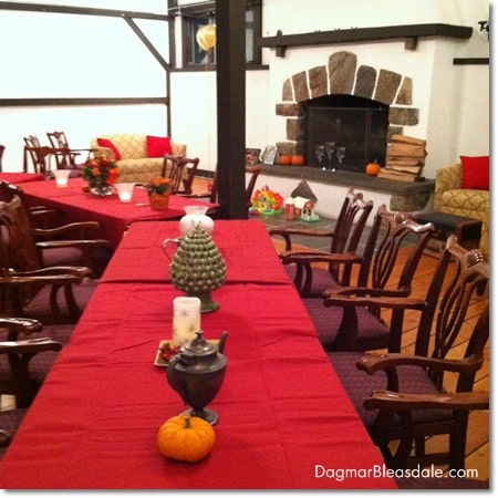 DIY table fall decoations for birthday party