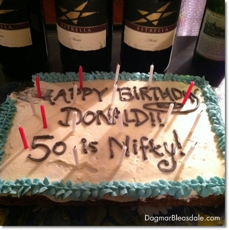 50th birthday party on a budget, DagmarBleasdale.com