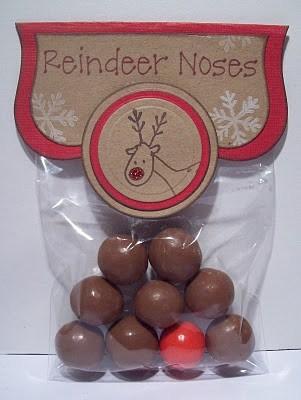 DIY Christmas Reindeer Noses treat