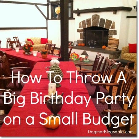 DagmarBleasdale.com: How to throw a big party on small budet, DIY