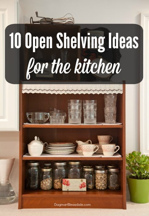 open shelving ideas, DagmarBleasdale.com