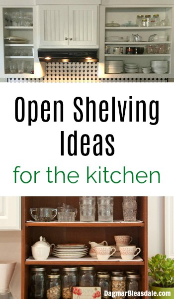 Open shelving ideas for kitchen, DagmarBleasdale.com
