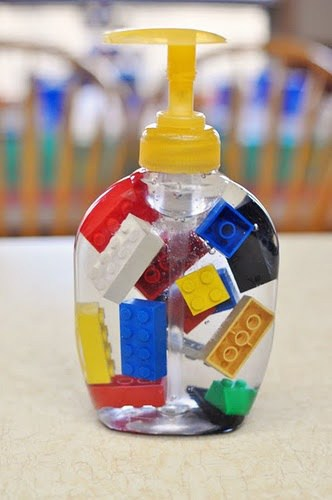 DIY gift: Lego soap dispenser