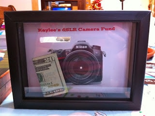 DIY shadow box banks, easy DIY gift
