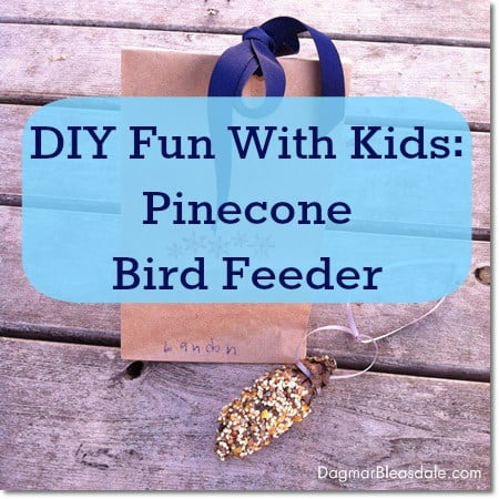 DIY Fun With Kids: Pinecone Bird Feeder