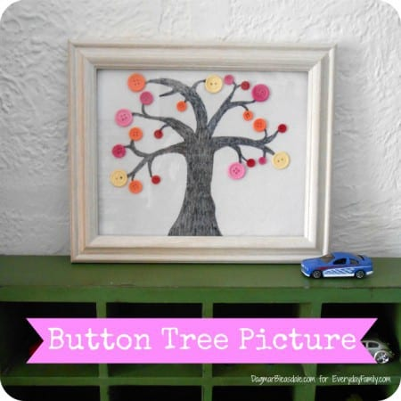 easy DIY project: button tree picture