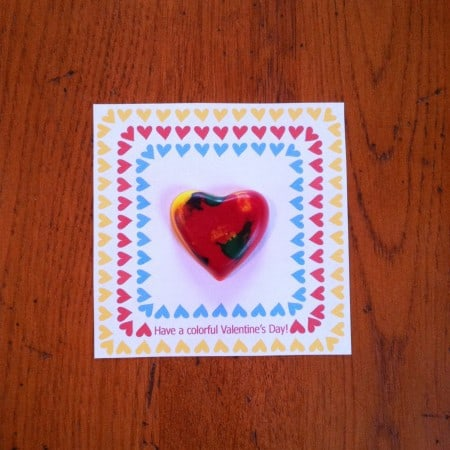 DIY crayon hearts tutorial for Valentine's Day