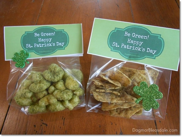 Dye-Free St. Patrick's Day Snacks and Free Printable, DagmarBleasdale.com