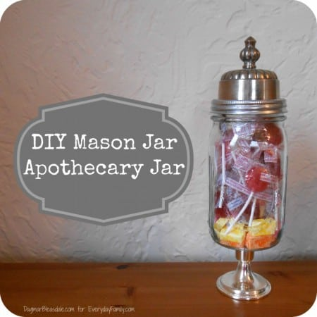 Diy project mason jar apothecary jar dagmar 39 s home for Projects to do with mason jars