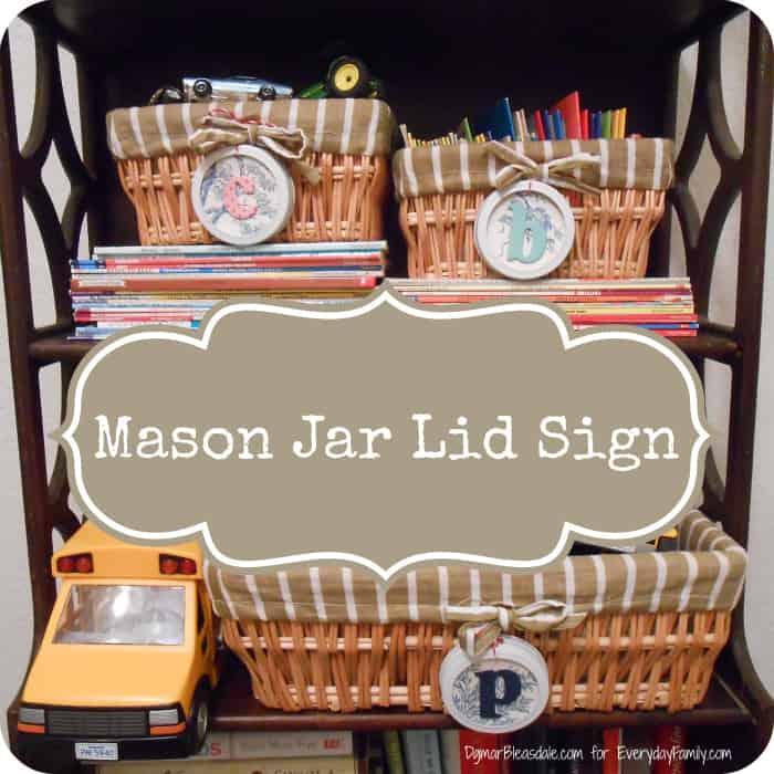 mason jar lid signs, DagmarBleasdale.com