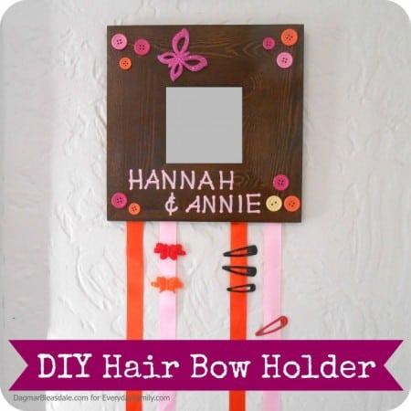 Easy DIY Project: Hair Bow Holder