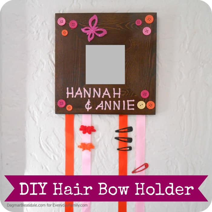 Easy DIY Project: Hair Bow Holder