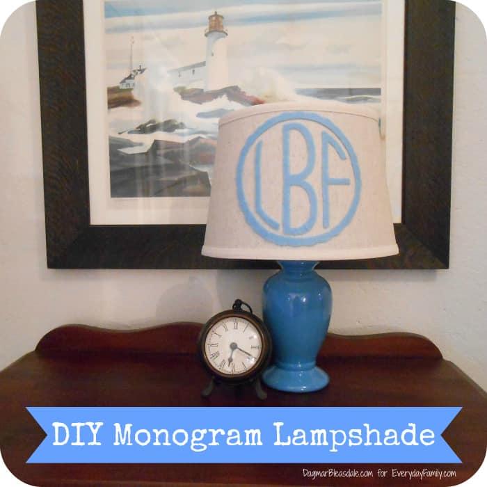 DIY Project: Monogram Lampshade